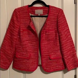 Banana Republic Red and White Jacket